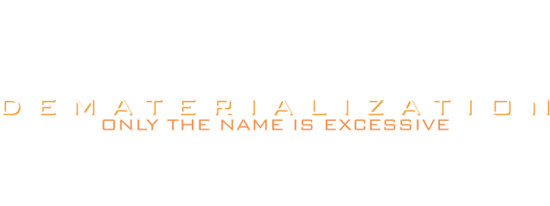 De'zation Dematerialization Logo